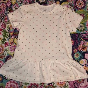 H&M Polka Dot Swing Tee Shirt Size 12-18 Mon GUC
